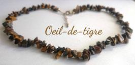 Oeil de tigre, collier baroque