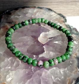 Rubis zoïsite, bracelet élastique