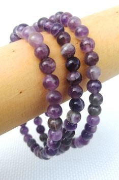 Améthyste, bracelets élastiques 6 mm