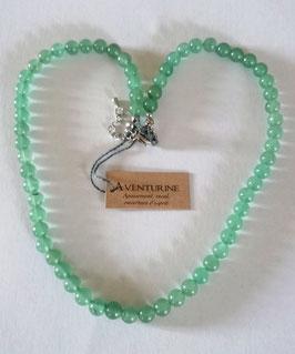 Aventurine, collier perles