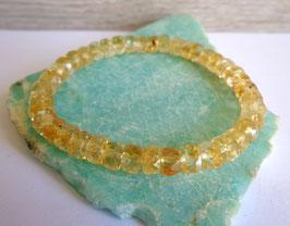 Citrine, bracelet élastique perles facettées