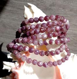 Lépidolite, bracelet élastique