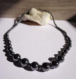 Hématite, collier perles en dégradé
