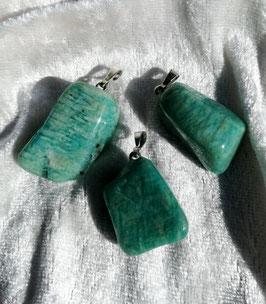Amazonite, pendentifs forme libre