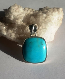 Turquoise Arizona , pendentif argent 925