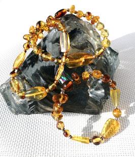 Ambre Mexique, bracelets élastiques composés