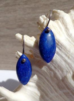Lapis-lazuli, boucles d'oreilles.