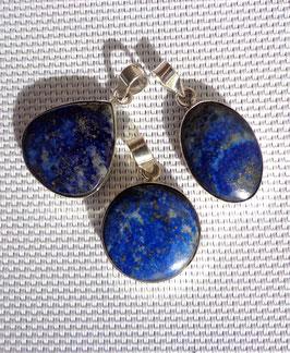 Lapis-lazuli, pendentifs cerclés