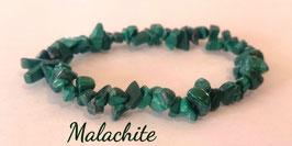 Malachite, bracelet élastique baroque