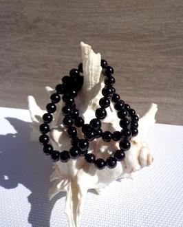 Tourmaline noire, bracelet élastique 8 mm
