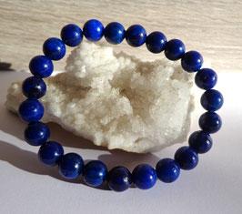 Lapis-lazuli teinté, bracelet élastique