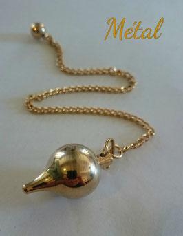 Pendule métal boule GM