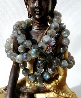 Labradorite, bracelet perles 8 mm AA