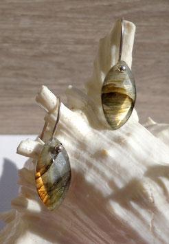 Labradorite, boucles facettées
