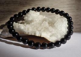 Tourmaline noire, bracelet élastique 6 mm