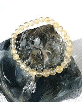 Citrine, bracelet perles 6 mm