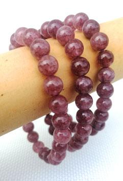 Lépidolite extra, bracelets élastiques