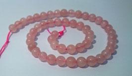 Quartz rose, perles rondes 8 mm
