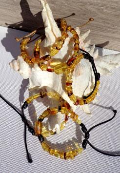 Ambre Mexique, bracelets cordons