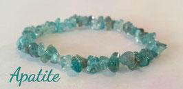Apatite, bracelet élastique baroque