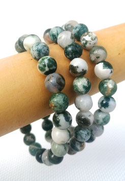 Agate arbre, bracelets élastiques