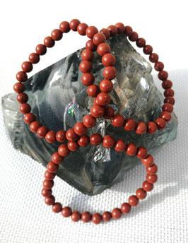 Jaspe rouge, bracelets élastiques