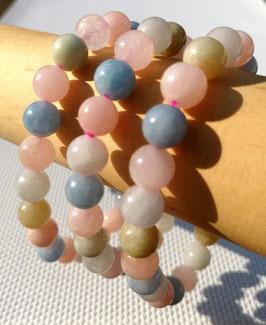 Béryls A, bracelet élastique perles 8 mm