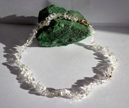 Cristal de roche, collier baroque