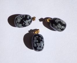 Obsidienne neige, pendentifs