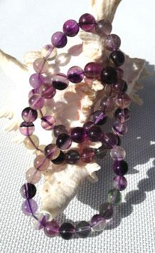 Fluorine, bracelet élastiques perles 10 mm