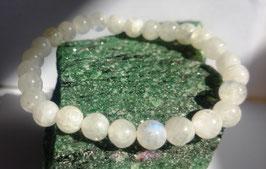 Pierre de lune A (perles 6 mm), bracelet élastique