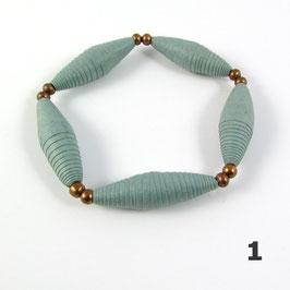 Bracelet papier perlé