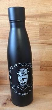Isolierflasche schwarz