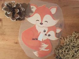 Bügelbild Fox love