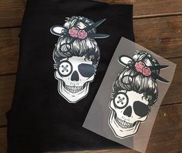 Bügelbild Skull