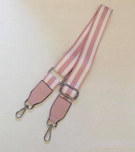 Taschengurt stripes rosé/weiß