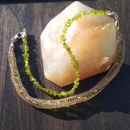 Silberkette mit Peridot