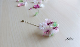 Broche Sakura - rose pâle