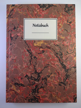 Notizbuch Marmor Rotbraun