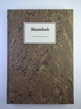 Skizzenbuch Marmor Braun