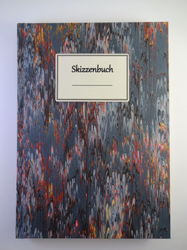 Skizzenbuch Marmor Dunkelblau
