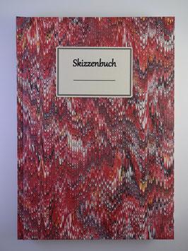Skizzenbuch Marmor Rot 1