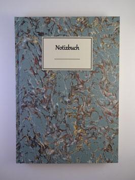 Notizbuch Marmor Hellblau