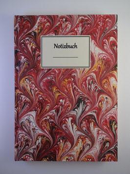 Notizbuch Marmor Rot 2