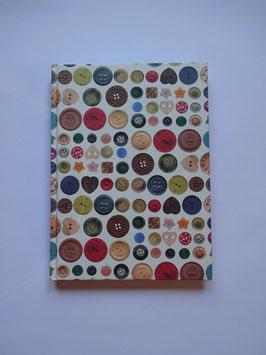 Knopf Motiv Notizbuch