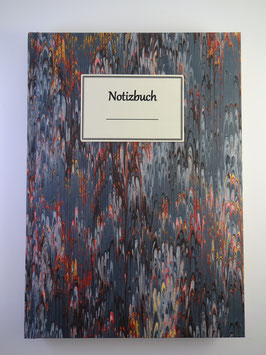 Notizbuch Marmor Dunkelblau