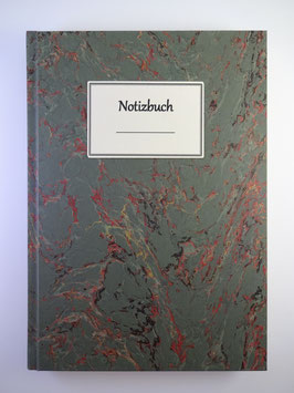 Notizbuch Marmor Dunkelgrün