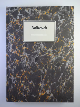 Notizbuch Marmor Schwarz