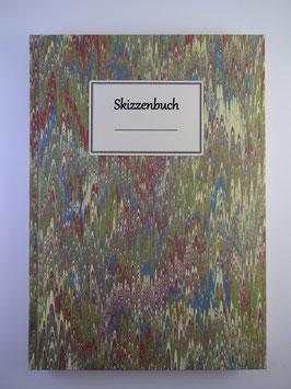 Skizzenbuch Marmor Grün