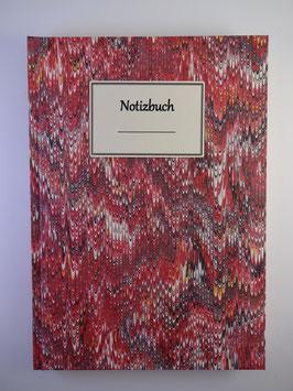 Notizbuch Marmor Rot 1